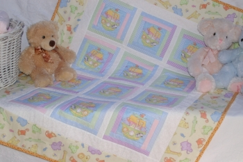 Noah's Little Troupe Cot Quilt