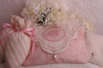 Milady's Unmentionables Lingerie Bag and Lavender Shoe Sachets