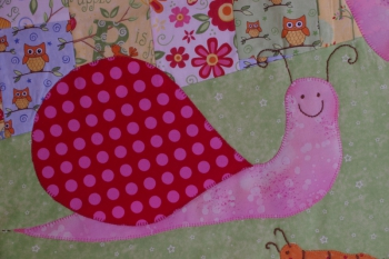 Under a Mushroom Cot Quilt or Play Mat ~ New Fabrics