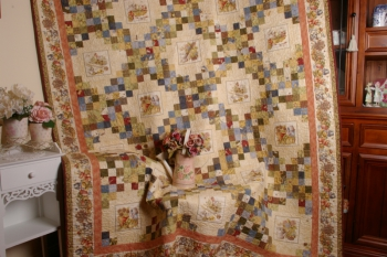 Potting About triple Irish Chain quilt image