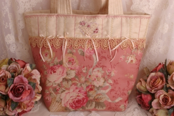 Victoria's Embroidered Travel Tote ~ Special Price image