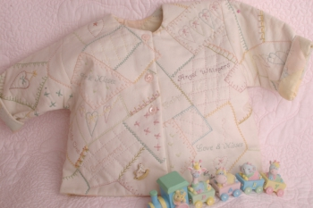 Faerie Kisses &  Angel Wishes Stitched Child's Jacket ~  New Fabric in Lining)