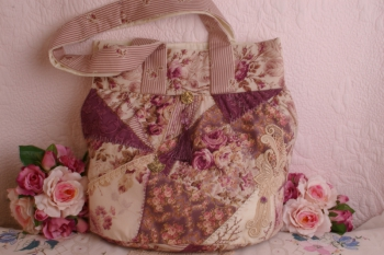 Rosies's Carpetbag ~  Plum Colours EXTRA SPECIAL PRICE