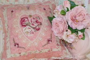 Stitchery Treasures & Vintage Rose Parlour Pillow Combination Pattern image