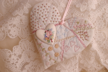 Embroidered Heart Pomander ~ Mini Pattern