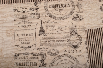 My Trip to Paris Queen Size Topper ~ New Fabrics image