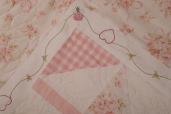Close to My Heart ~ Baby Quilt or Sofa Quilt image