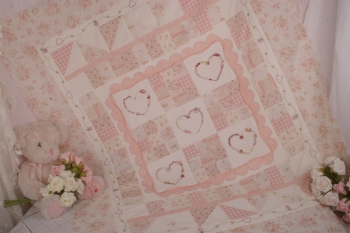 Close to My Heart Baby Quilt or Sofa Quilt  image