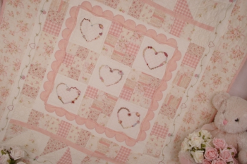 Close to My Heart ~ Baby Quilt or Sofa Quilt