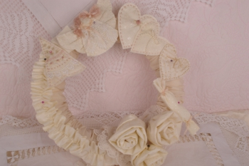 Vintage Rose Christmas Wreath
