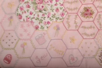 Happy Hexies Storage Bag ~ New Fabric Options image