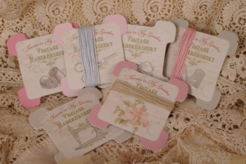 Vintage Haberdashery ~ Thread Cards ~ Set of 6