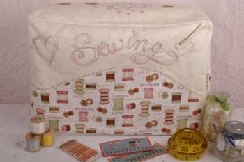 Sweet Myrtle Sewing Machine Cover and Bits & Bobs Basket ~ New Fabrics image