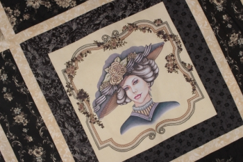 Edwardian Lady Pre Printed Panel ~ Black image
