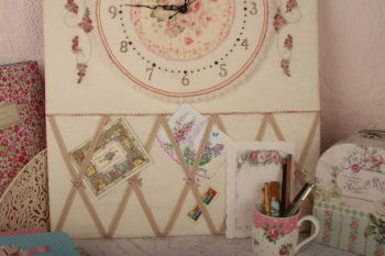 A Time for Roses Clock Notice Board image