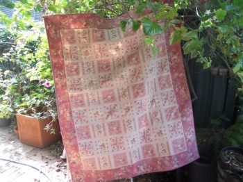 Pretty Roses Panel Quilt ~ Special Introductory Price image