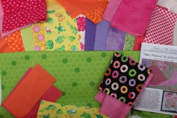Under a Mushroom Cot Quilt or Play Mat ~ New Fabrics image