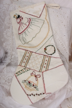 Winter Wonderland Vintage Christmas Stocking