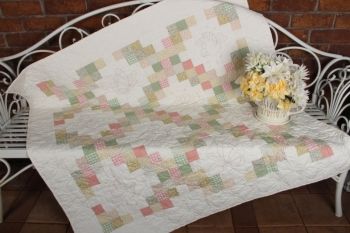 Spring Butterflies Double Irish Chain Sofa Quilt