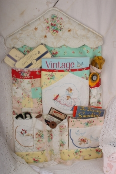 Vintage Doily Pocket Wall Hanger ~ Half Price Special