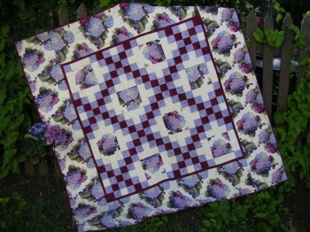 Keryl's Garden ~ Double Irish chain quilt