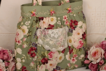 Vintage Doily Bag ~ Introductory Offer ~ Kit at Fabric Pack price Pattern Free image