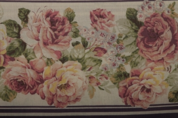 QG Mauve Large Floral Stripe SOLD OUT image
