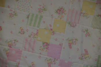 Nine-Patch Baby Quilt ~ Treasured Memories