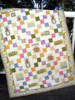 Noahs Ark Nine-Patch Cot Quilt