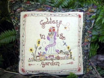 Goddess in the Garden Cushion