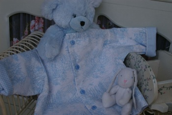 Treasured Memories Baby Jacket Blue ~ Kits Sold out in this colour
